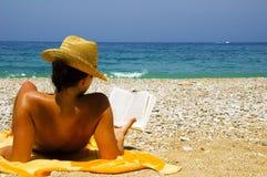 Op vakantie bij het strand Royalty-vrije Stock Fotografie