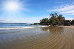 Op Vancouver begint het Eiland met getijde Stock Foto's