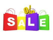Op verkoop shoppingbags Royalty-vrije Stock Afbeelding