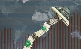 Op werelddollar stock foto