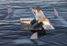 Op zee het blijven Stock Foto