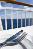 Op zee het dineren Stock Afbeelding