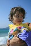 Op zee het meisje van de baby Royalty-vrije Stock Afbeelding