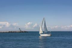 Op zee het terugkeren van een reis Royalty-vrije Stock Foto's