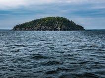 Op zee, Mening van Stekelvarkeneiland, de Baai van Fransman, Maine Royalty-vrije Stock Afbeelding