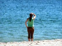 Op zee verloren Stock Foto