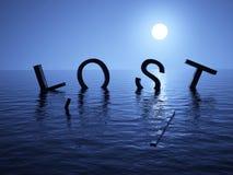 Op zee verloren Stock Fotografie