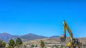 Op zwaar werk berekend bouwvoertuig in Eagle Mountain royalty-vrije stock afbeelding