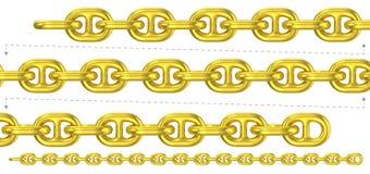 Op zwaar werk berekende gouden herhaalbare ketting Royalty-vrije Stock Foto