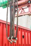 Op zwaar werk berekende staalkabelslinger Stock Afbeelding