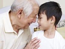 Opa en kleinzoon royalty-vrije stock foto