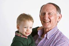 Opa met kleinzoon Royalty-vrije Stock Foto
