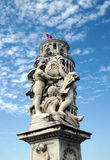 Opa. Statue of Opa in front of tora di pisa, Piazza dei Miracoli Royalty Free Stock Photo