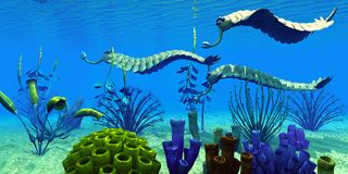 Opabinia dans les mers cambriennes Photo libre de droits