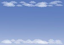 opacifie le blanc de cumulus Images stock