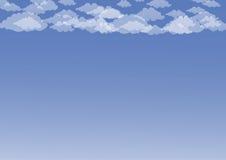 opacifie le blanc de cumulus Photos stock