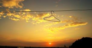 opacifie le coucher du soleil Images libres de droits