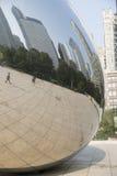 Opacifiez la porte ou le haricot en parc de millénaire de Chicago Image libre de droits
