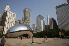 Opacifiez la porte ou le haricot en parc de millénaire de Chicago Photo libre de droits