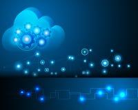 Opacifiez la techno de calcul de stockage de réseau informatique de transaction Illustration Libre de Droits