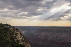 Opacité lourde dans Grand Canyon photographie stock libre de droits