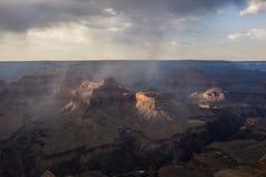 Opacité lourde dans Grand Canyon images stock