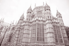 Opactwo Abbey fasada, Westminister, Londyn Obrazy Royalty Free