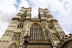 Opactwo Abbey, Londyn, przyglądający przy zachodnim up stawia czoło Zdjęcia Stock