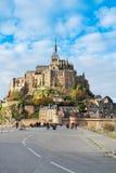 Opactwo Mont saint michel, Francja Zdjęcia Royalty Free