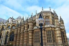opactwo Westminster Boczny widok z streetlight budynku kr?lestwa London stary wierza zlany Victoria obraz stock