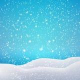 Opad śniegu i dryfy Wektorowy ilustracyjny pojęcie Zdjęcie Royalty Free