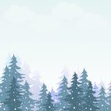 Opad śniegu w zima lesie Fotografia Royalty Free