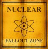 opad strefa jądrowa szyldowa Zdjęcie Stock