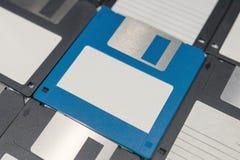 Opadających dysków magnesowy komputerowy przechowywanie danych Zdjęcia Royalty Free