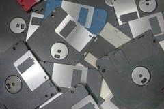 Opadających dysków magnesowy komputerowy przechowywanie danych Obrazy Royalty Free