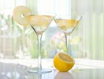 opadowa cytryna Martini Zdjęcia Stock