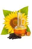opadowego oleju stylizowany słonecznik Obrazy Royalty Free