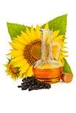 opadowego oleju stylizowany słonecznik Obraz Royalty Free