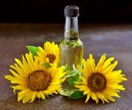 opadowego oleju stylizowany słonecznik Fotografia Royalty Free