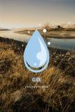 Opadowego Wodnego świeżość napoju Środowiskowy pojęcie obrazy royalty free