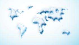 opadowy mapy wody świat Zdjęcie Stock