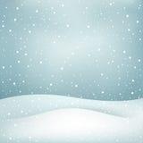 Opadu śniegu tło Zdjęcie Stock