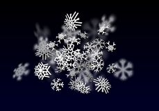 Opadu śniegu tło Spada przejrzysty śnieg z dużymi płatkami śniegu ilustracji