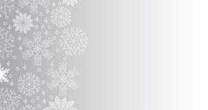 Opadu śniegu tło z kopii przestrzenią Zdjęcia Stock