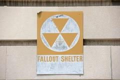 Opadu schronienia znak na budynku Obraz Stock