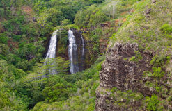 'Opaeka'a Falls. On the island of Kauai, Hawaii royalty free stock photos