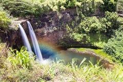 Opaekaa Falls Kauai Hawaii Stock Photo