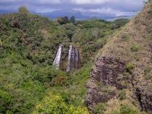 Opaekaa Falls waterfall in Kauai Stock Photo