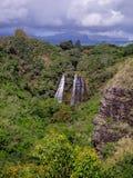 Opaekaa Falls waterfall in Kauai Stock Photography