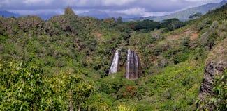 Opaekaa Falls waterfall in Kauai Royalty Free Stock Image